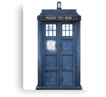 Tardis Blue - The Police Box Canvas Print