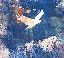 White Bird Flying Above the Clouds by Heather Holland by Heatherian