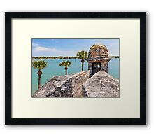 Castillo de San Marcos and Matanzas Bay, St. Augustine, FL Framed Print