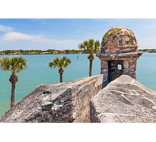 Castillo de San Marcos and Matanzas Bay, St. Augustine, FL Photographic Print