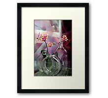 Still Life With Ribbed Glass Framed Print