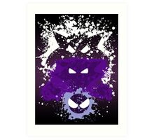 Gastly, Haunter, and Gengar Splatter Art Print