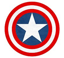 Captain America Shield by Isabella Brown
