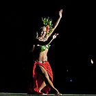 Old Lahaina Hula Dancer by Leanne Churchill