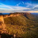 Sunset at Mount Solitary by Silken Photography