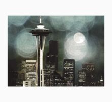 Seattle Space Needle Black, White & Grey by stine1