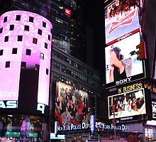 Times Square in New York City (pink) by stine1