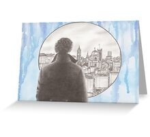Sherlock's London Greeting Card