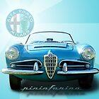 1957 Alfa Romeo Giulietta TI Spider by Martin Lomé