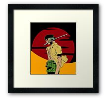 The Swordsman Of The Straw Hat Crew Framed Print