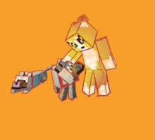 Minecraft: Stampy Cat and his dog Gregory - sketchy design by ladyjiles