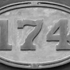 R174 Engine Plaque by threewisefrogs