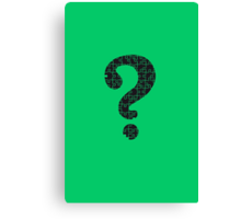 The Riddler's Puzzle  Canvas Print