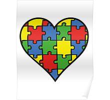 Autism Awareness Heart Poster