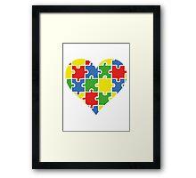 Autism Awareness Heart Framed Print