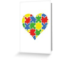 Autism Awareness Heart Greeting Card