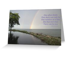 A Song of Rainbows Greeting Card