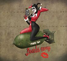 Harley Quinn War Pin Up by atomicgirl