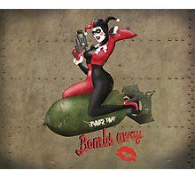 Harley Quinn War Pin Up Photographic Print
