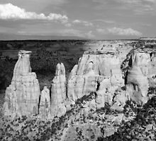 Colorado National Monument 9 BW by marybedy