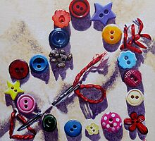 Love Buttons by Paula Oakley