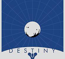 Minimalist Destiny Poster by Jordan Garvey