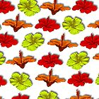 Hibiscus Flower Pattern  by GolemAura