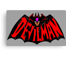 Beware, the (Goddamn) Devilman! Canvas Print