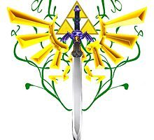 Master Sword and Triforce by Frostwraith