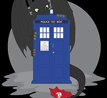 Toothless TARDIS by Sarah Switalski