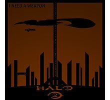 Minimalist Halo 2 Poster Photographic Print