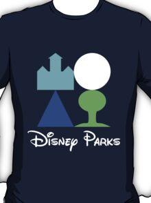 Disney World Parks Minimalist with Words T-Shirt