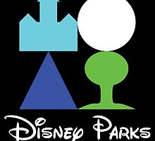 Disney World Parks Minimalist with Words by kruegerm16