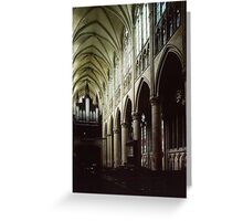 Nave of Cathedral St Etienne Chalons sur Marne France 198405060042 Greeting Card