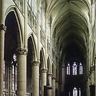 Pulpit and nave of Cathedral St Etienne Chalons sur Marne France 198405060043 by Fred Mitchell