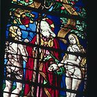 Adam introduced to Eve by God C16 glass Cathedral St Etienne Chalons sur Marne France 198405060045 by Fred Mitchell