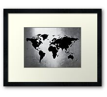 World Map Metal Framed Print