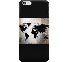 World Map Rusted Metal  iPhone Case/Skin