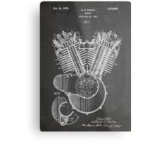 Harley Davidson Motorcycle Engine US Patent Art 1923 Metal Print