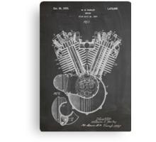 Harley Davidson Motorcycle Engine US Patent Art 1923 Canvas Print