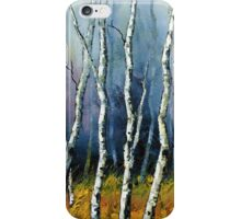 Winter Reverie by Lisa Elley. Palette knife painting in oil  iPhone Case/Skin