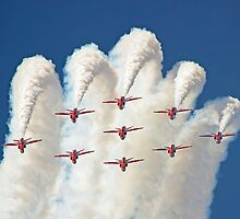 Red White And Blue !! Total Perfection !! The Red Arrows Farnborough 2014 !!  by Colin  Williams Photography