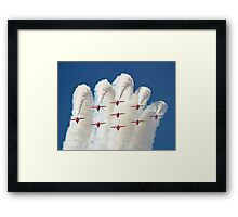 Red White And Blue !! Total Perfection !! The Red Arrows Farnborough 2014 !!  Framed Print