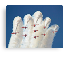 Red White And Blue !! Total Perfection !! The Red Arrows Farnborough 2014 !!  Canvas Print