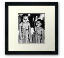 """""""UnHappy - Flower Girls"""" Framed Print"""