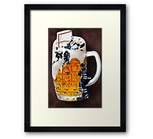 █ ♥ █ SPIRIT OF HOCKEY-BEER- HOCKEY PLAYERS CARD/PICTURE █ ♥ █  Framed Print