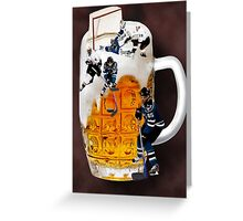 █ ♥ █ SPIRIT OF HOCKEY-BEER- HOCKEY PLAYERS CARD/PICTURE █ ♥ █  Greeting Card