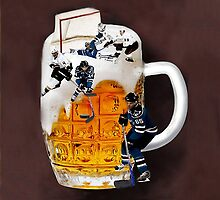 █ ♥ █ THE GOOD OLD HOCKEY GAME - BEER- HOCKEY PLAYERS FUN DECORATIVE PILLOW & TOTE BAG CHEERS HE SCORES █ ♥ █ by ✿✿ Bonita ✿✿ ђєℓℓσ