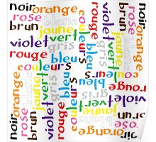 French colour words IV Poster