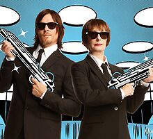 Gale Anne Hurd and Norman Reedus in Men in Black (SDCC 2014) by shoshgoodman